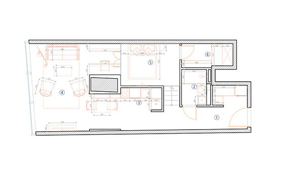 One Room Floor Plan